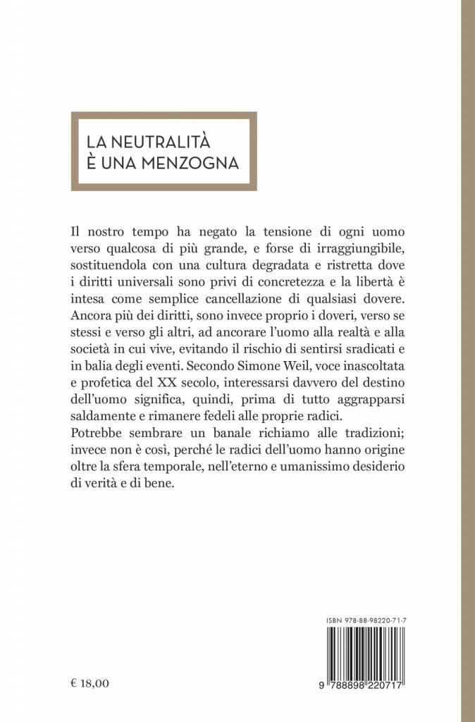 Quarta – La prima radice – Simone Weil
