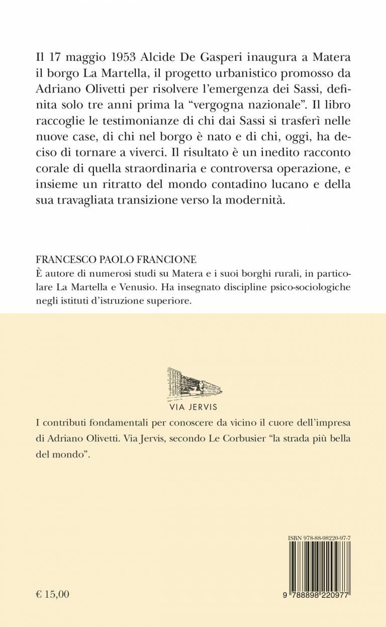 Quarta – LA VOCE DI MATERA - Storie da La Martella - FRANCESCO PAOLO FRANCIONE